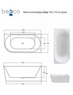 Brodzik Ideo posadzkowy z podstawą styropianową zintegrowaną 90x90x5 cm