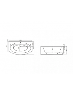 Brodzik Cantare posadzkowy zintegrowany 90x90x5,5 cm