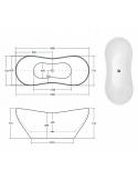 Brodzik Lido posadzkowy 80x80x6 cm półokrągły