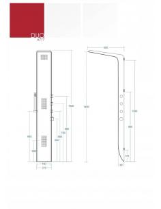 Kabina prysznicowa narożna typu WALK IN ścianka 100 cm z powłoką Clean Glass