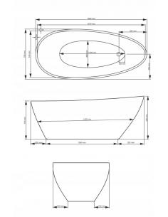 Brodzik Lido kwadratowy posadzkowy zintegrowany 90x90x6 cm