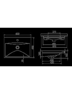 Brodzik Domio kwadratowy głęboki z siedziskiem na stelażu z obudową dołączoną 80x80x35 cm