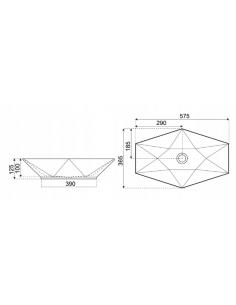 Brodzik Maxima asymetryczny na stelażu z siedziskiem z obudową dołączoną 100x80x40,5 cm