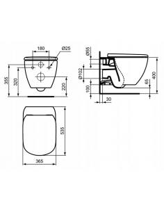 Ekskluzywne drzwi prysznicowe przesuwne 120 cm z powłoką EASY CLEAN
